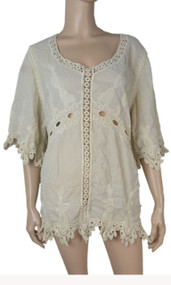pretty angel Caramel Linen Blend-Tunic