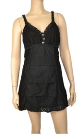 pretty angel Black Overlay Silk Blend Tunic