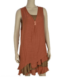 pretty angel Rust Boho Dress Set