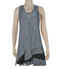 pretty angel Gray & Black Boho Dress Set