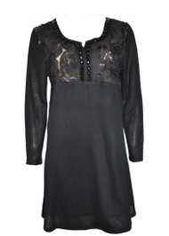 pretty angel Black Silk Blend Tunic