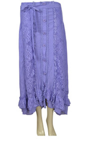 pretty angel Purple / Light Purple Linen Blend Skirt
