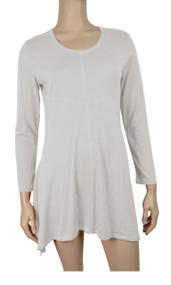 pretty angel White Linen-Blend Tunic