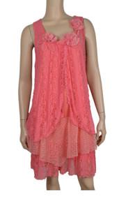 pretty angel Coral Lace Dress