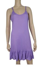 pretty angel Light Purple Ruffle Silk Blend Tunic with Adjustable Strap