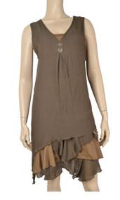 Pretty Angel Coffee & Brown Boho Dress Set