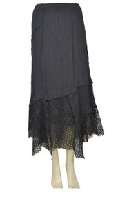 Pretty Angel Black Linen Blend Maxi Skirt