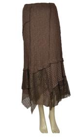 Pretty Angel Coffee Linen Blend Maxi Skirt