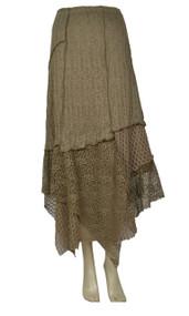 Pretty Angel Ecru Linen Blend Maxi Skirt
