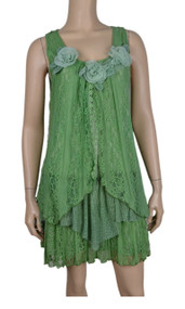 pretty angel Light Green Lace Dress