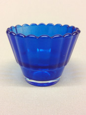 Blue Votive Glass