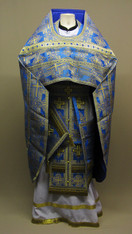 Russian Priest's Vestments: Blue #11 - 54/150cm