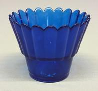 Blue Votive Glass #2