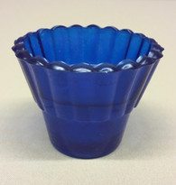 Blue Votive Glass #3