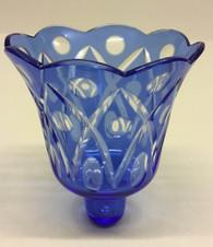 Extra Large Blue Votive Glass