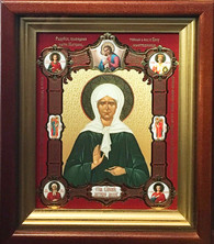 St. Matrona Icon - framed (Mounted)