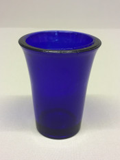 Blue Votive Glass #4