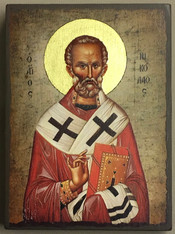 St. Nicholas Icon - Small (Mounted)