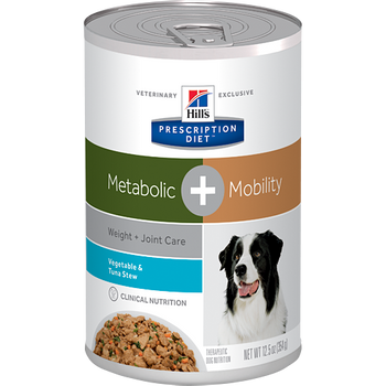 Hill's Canine Metabolic + Mobility Vegetable & Tuna Stew (12 x 12.5 oz. Cans)