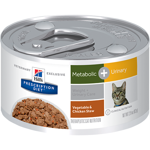 Hill's Feline Metabolic + Urinary Care Vegetable & Chicken Stew Cans (24 x 2.9 oz.)