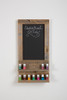 Essential Oil Wall Hanging Display Shelves with Chalkboard - Natural