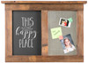 Chalkboard Message Center with Magnet Board