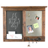 Chalkboard Message Center with Magnet Board, Mail Holder, and Key Hooks