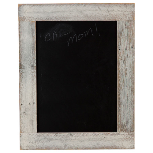 Chalkboard with Barnwood Frame, 29 x 23 - Whitewash