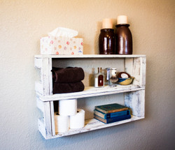 Stacking Crate Style Shelves (Set of 2)