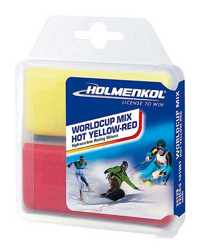 Holmenkol World Cup Mix Hot Yellow-Red Wax