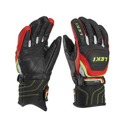 Leki World Cup Race Flex S Jr Gloves - Black/Red
