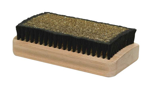 Sun Valley Ski Tools Radial Brass Horsehair Combo Wax Brush - Top View