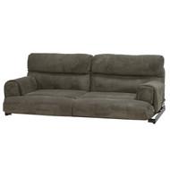 60' Grey Cloth Flip Sofa