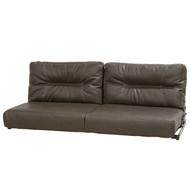 62' Brown Flip Sofa Sleeper