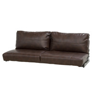 "64"" Brown Flip Sofa and Sleeper"