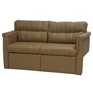"""67"""" Tan Flip Sofa and Sleeper"""