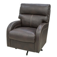 Brown w/ White Trim Swivel Chair