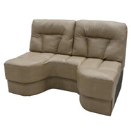 "58"" Tan Boat Sofa"