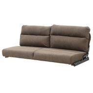"""60"""" Neutral Brown Cloth Flip Sofa"""