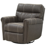 Dark Brown with White Trim Swivel Chair