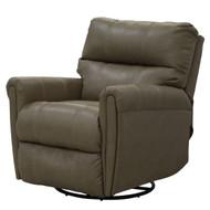 "32"" Grey w/ White Trim Swivel Recliner Chair"