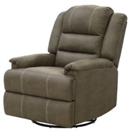 "30"" Brown Swivel Recliner Chair"