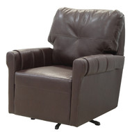 "31"" Dark Brown Swivel Chair"