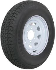 "Kenda Loadstar ST225/75D15 Bias Trailer Tire with 15"" White Wheel - 6 on 5-1/2"