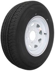 """Kenda Karrier ST225/75R15 Radial Trailer Tire 15"""" White Wheel - 6 on 5-1/2"""