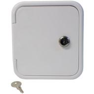 RV Gravity Water Hatch Fill Dish Lockable Polar White