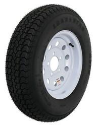 """Kenda Loadstar ST175/80D13 Trailer Tire 13"""" White Wheel Mod 5 on 4-1/2"""