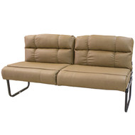 "67"" Light Tan Flip Sofa"