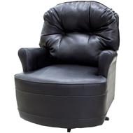 "30"" Black Swivel Chair"