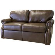 "66"" Brown RV Tri-Fold Sofa"